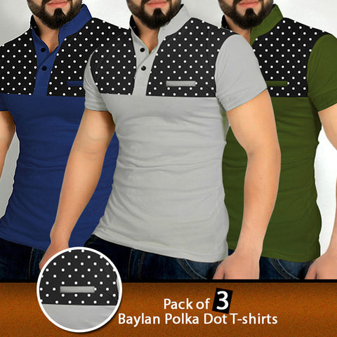 PACK OF 3 BAYLAN POLKA DOT T-SHIRTS