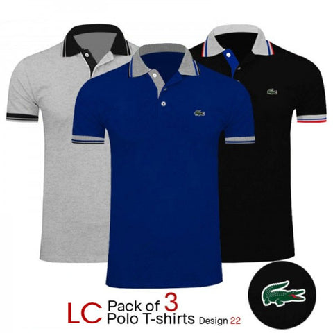 PACK OF 3 LC POLO TSHIRTS DESIGN 22