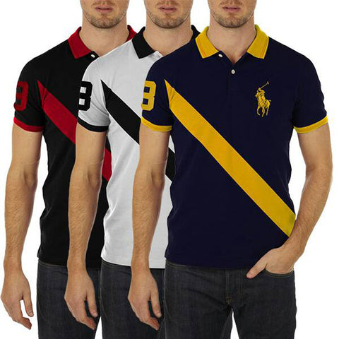 PACK OF 3 STRIPE POLO T-SHIRTS