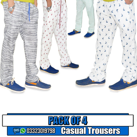 PACK OF 4 CASUAL TROUSERS
