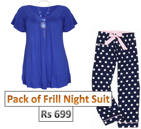 Frill Night suit