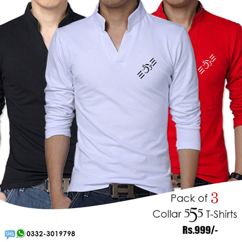 Pack of 3 Collar 555 T shirts