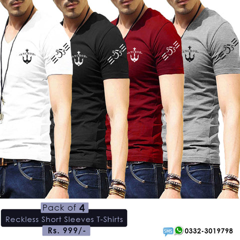 pack of 4 reckless T-shirts