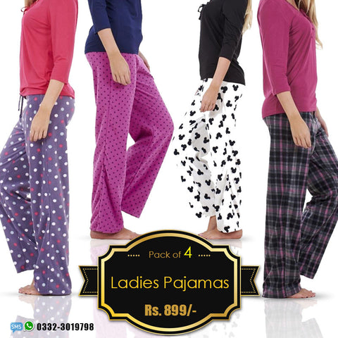 Pack of 4 Ladies pajamas