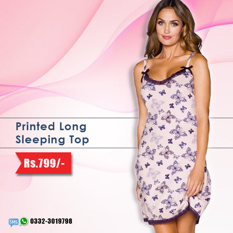 Printed Long Sleeping Top (Deal-2)