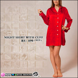 Night Shirt with Cuffs