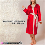 Contrast Long Gown