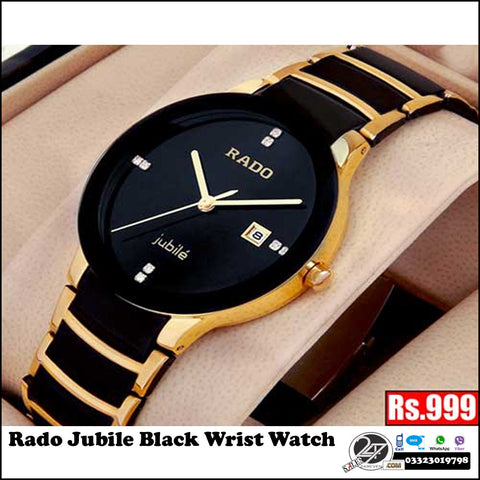 Rado Jubilee Black & Gold Watch