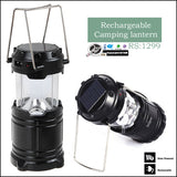 Solar Powered Rechargeable Camping Lantern