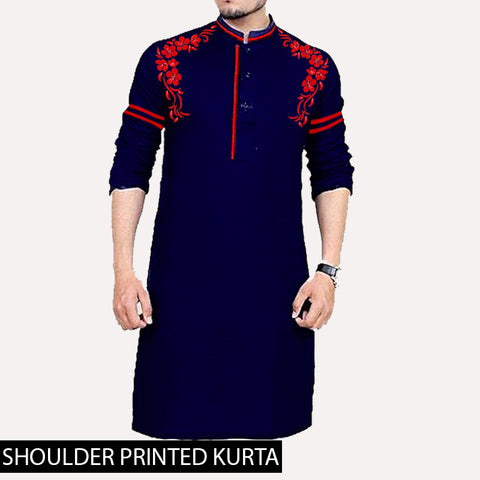 SHOULDER PRINTED KURTA ( DESIGN 2 )
