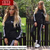 11-11 Sale Double Strip Female Track Suit