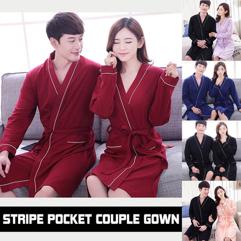 Stripe Pocket Couple Gown