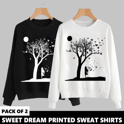 PACK OF 2 SWEET DREAM PRINTED SWEAT SHIRTS