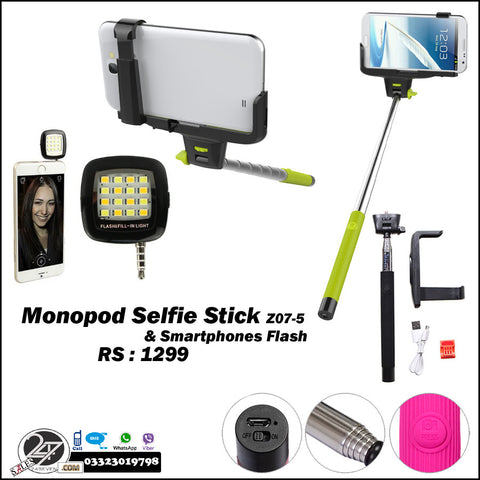 Selfie Stick with Selfie Flash Deal