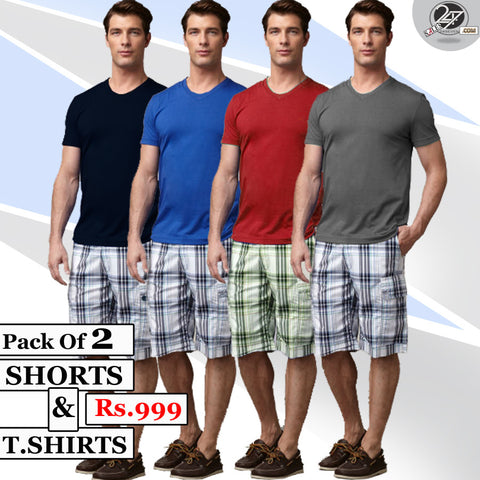 Pack of 2 Shorts & 2 T-Shirts