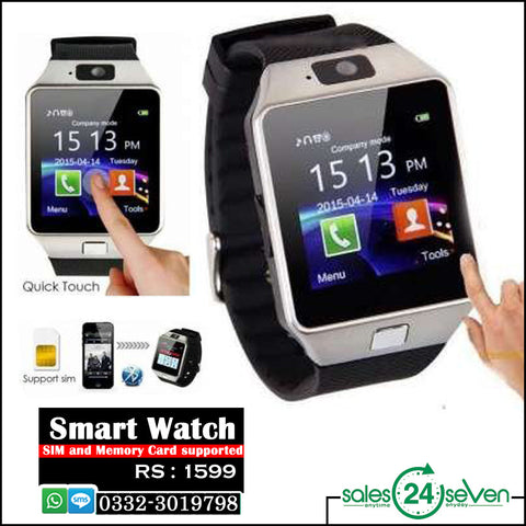 SIM & Memory Card Supported Smart Watch