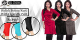 Stylish Button Kurti with Cigarette pants