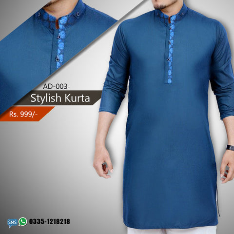 Stylish Kurta Blue (AD-003)