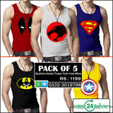 Pack of 5 Super Hero Tank Tops