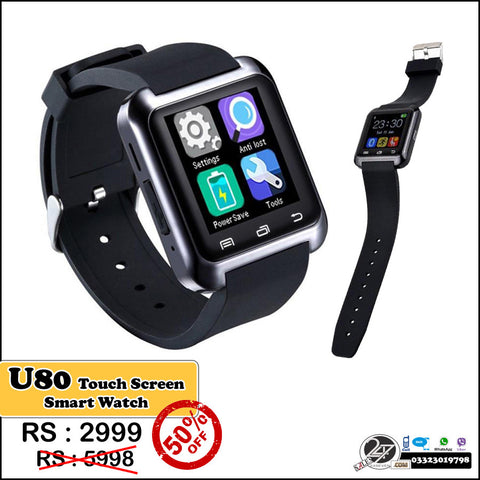U80 touch screen Smart watch