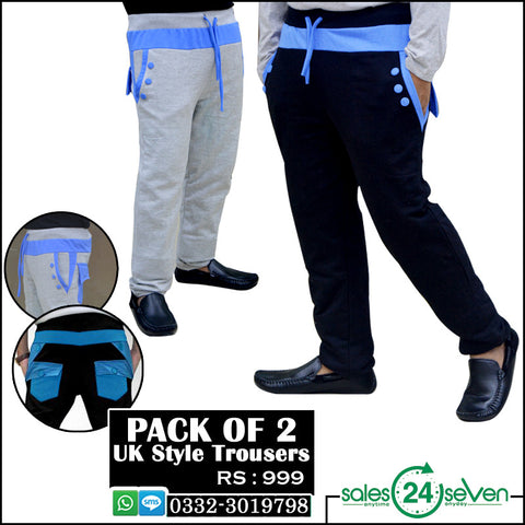 Pack of 2 UK-Style Trousers