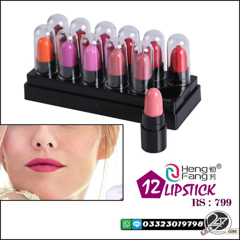 Hang Feng Pack of 12 High Quality Long Lasting Lipsticks