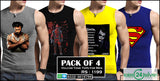 Pack of 4 VOLCOM Tank Tops