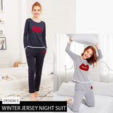 11-11 SALE: Pack of 2 Winter Jersey Night Suit
