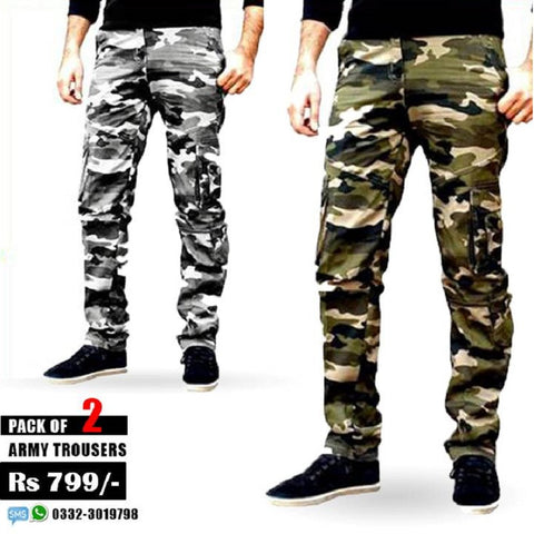 Pack of 2 Army Trousers