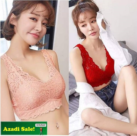 Pack of 2 Net Lace Foam Bra