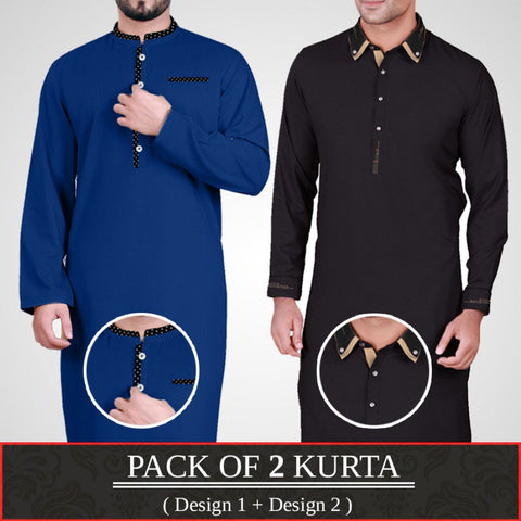 Pack of 2 Designer Kurta (Design 1 & Design 2)