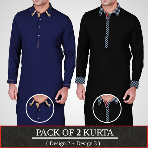 Pack of 2 Designer Kurta (Design 2 & Design 3)