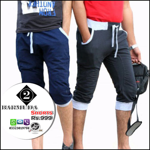 Pack of 2 Fleece Bermuda Shorts