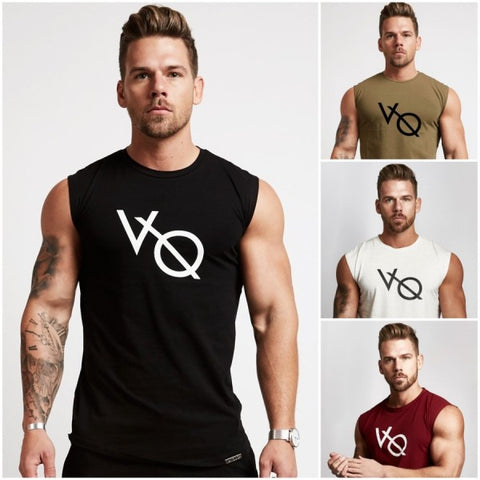 Pack of 4 Branded V/O Tank Tops