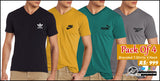 4 branded V neck Half sleeves