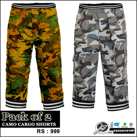 Pack of 2 ARMY cargo Shorts