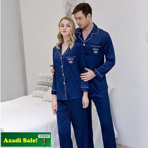 Pocket Logo Couple Pj Set Deal