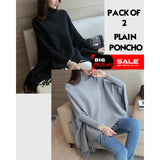 Pack Of 2 Plain Poncho