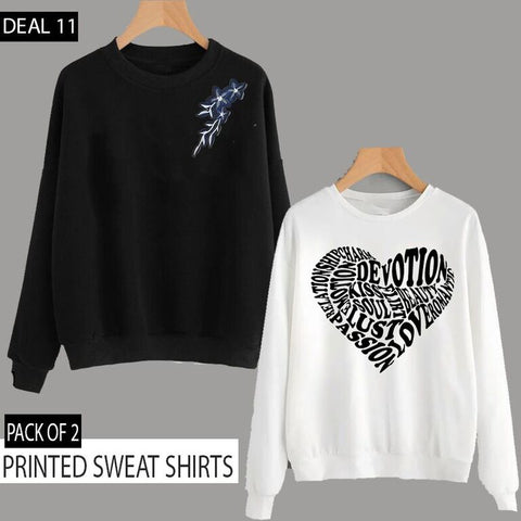 PACK OF 2 PRINTED SWEAT SHIRTS (DEAL 11)