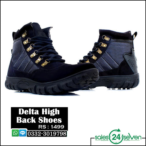 DELTA High Back Black Shoes