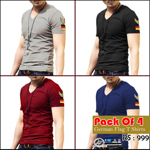 Pack of 4 German Flag T shirts