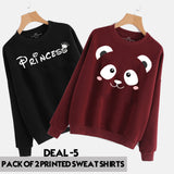 Pack of 2 PRINTED SWEAT SHIRTS KHI