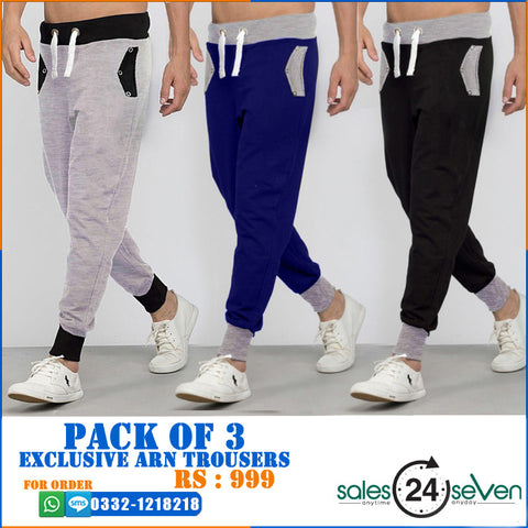 Pack of 3 Exclusive ARN Trousers