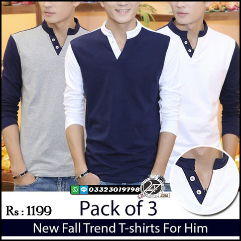 Pack of 3 Fall-Trend T-Shirts