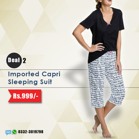 Imported Capri Sleeping Suit (Deal-2)