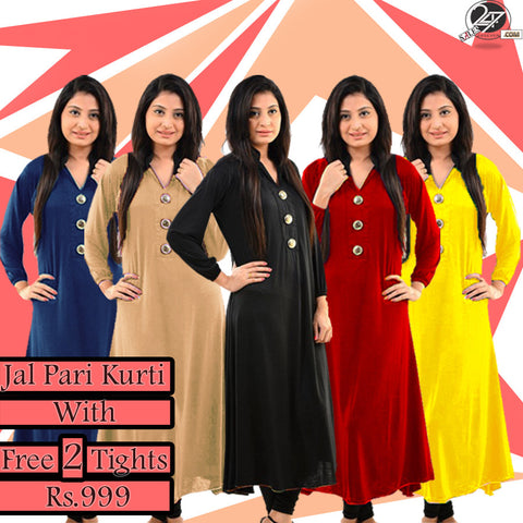 Jalpari Kurti with 2 Free Tights
