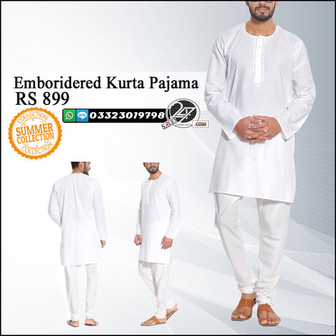Embroidered Kurta Pajama for Summer