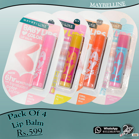 Pack of 4 MAYBELLINE Lip-Balm