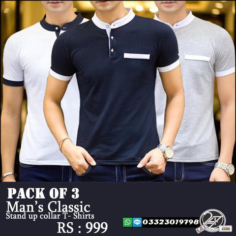 Pack of 3 Man's Classic T-Shirts