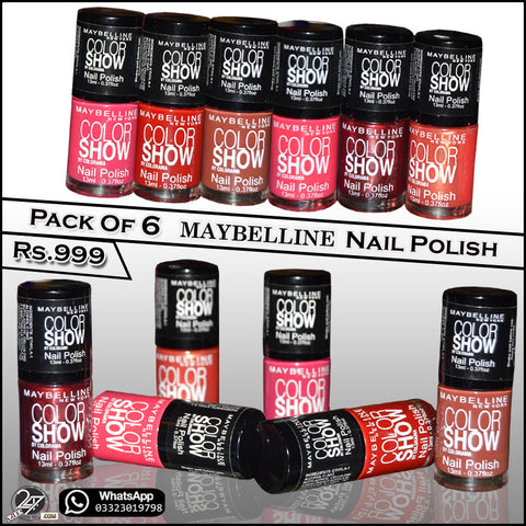 Pack of 6 MAYBELLINE Nail Polish
